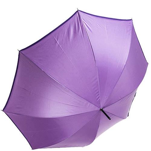 Двухсторонний зонт-трость Ferre фиолетового цвета с полуавтоматическим механизмом, фото