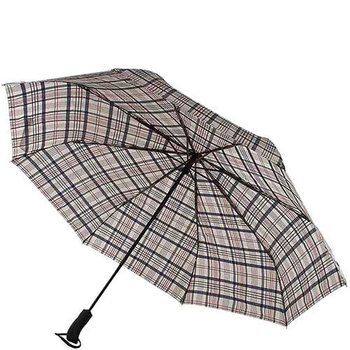 Клетчатый зонт Ferre с автоматическим механизмом и сдержаным принтом, фото
