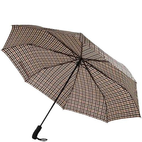 Большой клетчатый зонт-автомат Ferre с клетчатым узором, фото