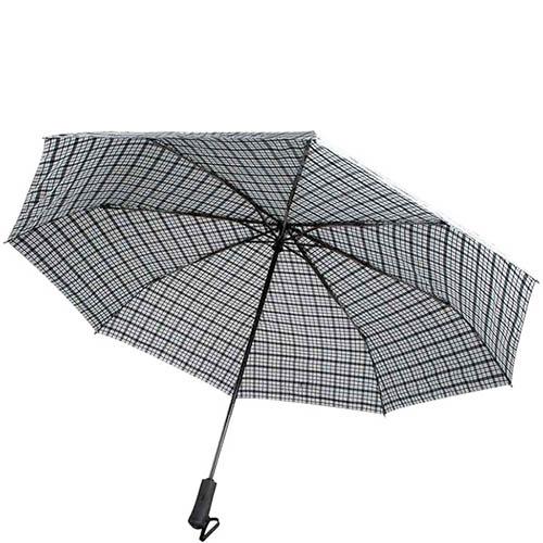 Большой клетчатый зонт Ferre с системой антиветер и автоматическим механизмом, фото