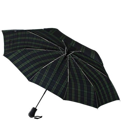 Темный клетчатый зонт Ferre с автоматическим механизмом, фото