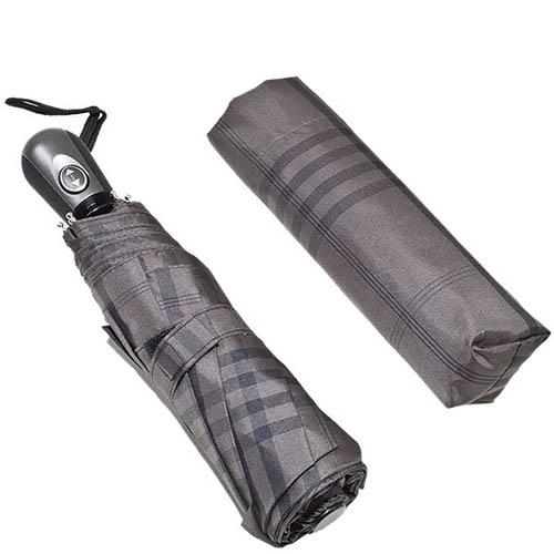 Клетчатый зонт Ferre темного серого цвета с автоматическим механизмом, фото