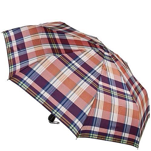 Автоматический зонт Ferre в красную шотландскую клетку с прорезиненой ручкой, фото