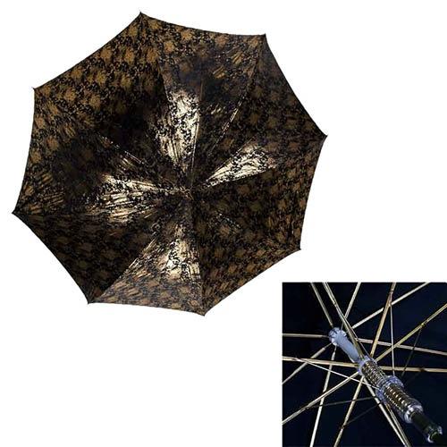 Золотистый полуавтоматический зонт-трость Ferre в фирменной упаковке, фото