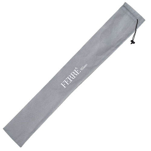 Черно-белый зонт Ferre в горошек с автоматическим механизмом, фото
