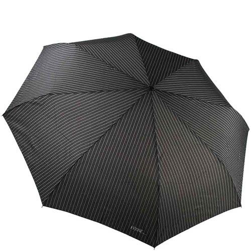 Большой зонт-автомат Ferre черного цвета в тонкую полоску, фото