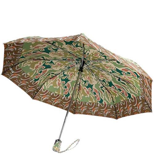 Принтованый зонт-автомат Ferre зеленого цвета, фото