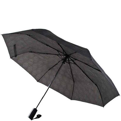 Серый унисекс зонт Ferre с полуавтоматическим механизмом и ненавязчивым принтом, фото