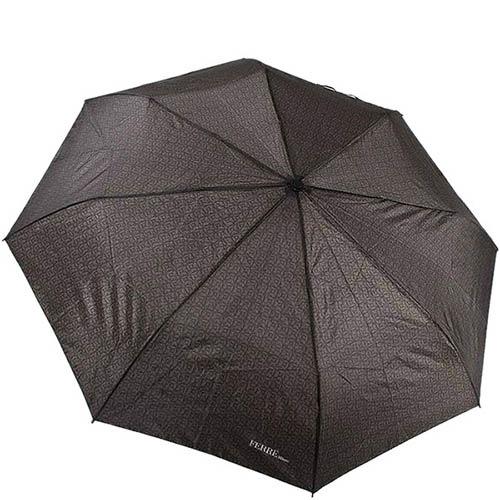 Большой зонт-унисекс Ferre с полуавтоматическим механизмом и мелким принтом, фото
