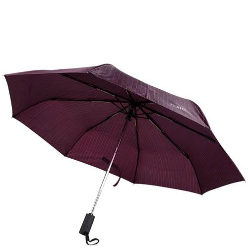 Классический зонт-автомат Ferre фиолетового цвета в полоску, фото
