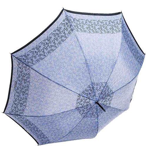Прочный зонт-трость Ferre с буквенным принтом и полуавтоматическим механизмом, фото