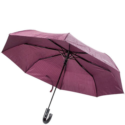 Полуавтоматический унисекс зонт Ferre фиолетового цвета в тонкую полоску, фото
