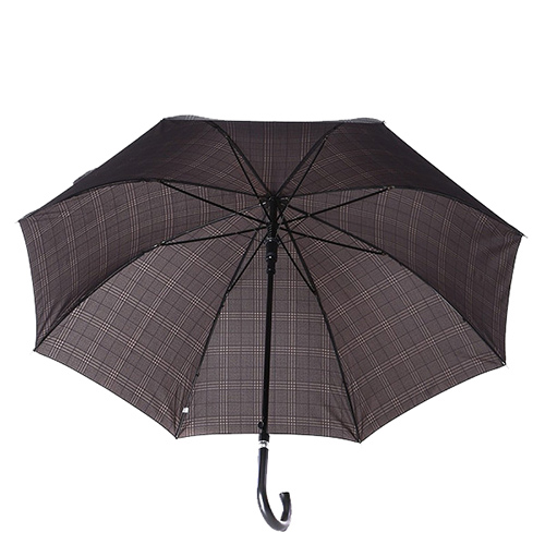 Зонт-трость Ferre GR-4 полуавтомат серый в клетку, фото
