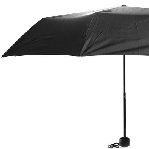 Зонт Derby механический в 3 сложения с 8 спицами черный, фото
