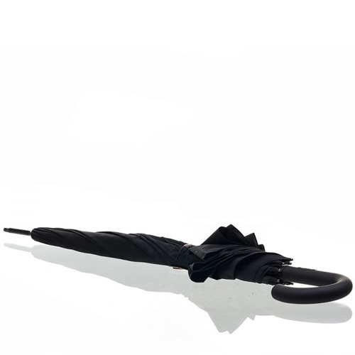 Зонт-трость Bugatti автоматический с 8 спицами черный с логотипом, фото