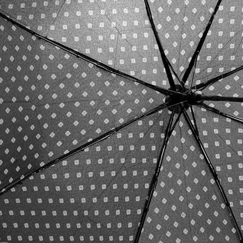 Зонт-автомат Derby в 3 сложения с 8 спицами черный с ромбами, фото