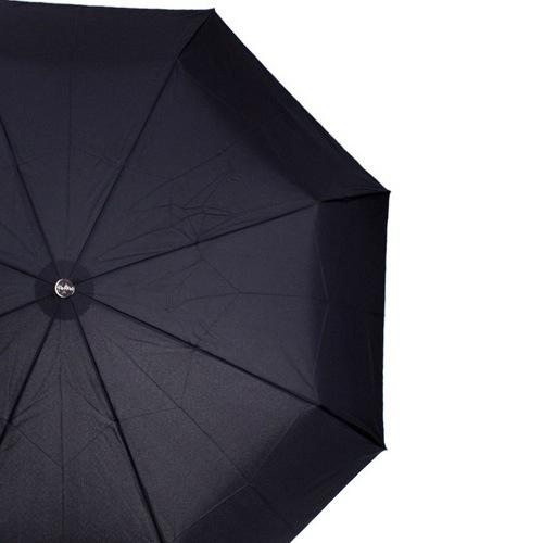 Зонт Doppler Carbon антиветер механический в 3 сложения с 8 спицами черный, фото