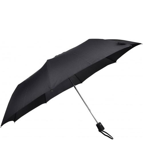 Зонт-полуавтомат Doppler Carbon антиветер в 3 сложения черный, фото