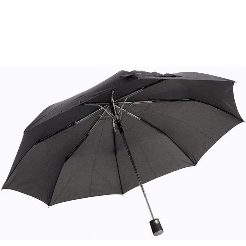 Зонт-полуавтомат Doppler Carbon антиветер в 3 сложения черно-серый в мелкую клетку, фото