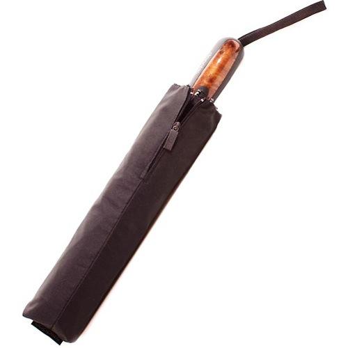 Зонт-автомат Doppler Magik XM Carbon антиветер черный с ручкой со вставкой под дерево, фото