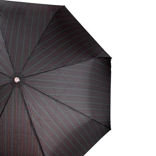 Зонт-автомат Doppler Magik XM Carbon антиветер с красными полосами с ручкой со вставкой под дерево, фото