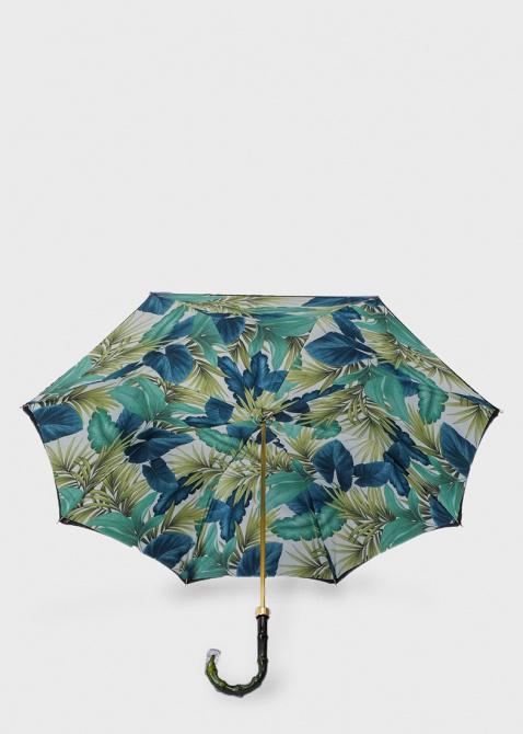 Зонт-трость Pasotti внутри с флористическим принтом, фото