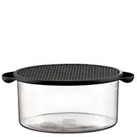Пищевой контейнер Bodum Hot Pot с силиконовой крышкой черного цвета 2,5л, фото