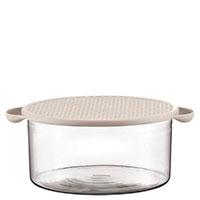 Пищевой контейнер Bodum Hot Pot с силиконовой крышкой белого цвета 2,5л, фото