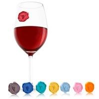 Набор маркеров-наклеек на бокал Vacu Vin Glass Markers , фото
