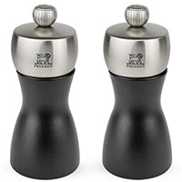 Набор мельниц Peugeot Fidji для соли и перца матовый черный 2шт, фото