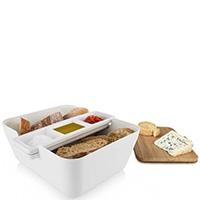 Набор для закусок Vacu Vin Bread & Dip с доской белого цвета, фото