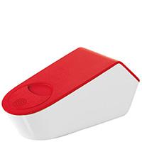 Терка-емкость для сыра Guzzini My Kitchen бело-красная, фото