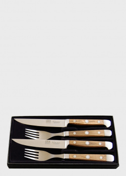 Набор для стейка Gude Alpha Fasseiche из 2-х ножей и вилок, фото