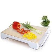 Доска бамбуковая Vacu Vin Cutting Board&Tray с лотком, фото