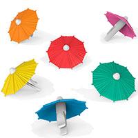 Набор маркеров для бокалов Fred and Friends My Tai в виде зонтиков, фото