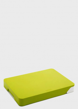 Разделочная доска с ящиком Joseph Joseph Cut & Collect зеленая, фото