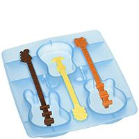 Форма для льда с коктейльными палочками Fred and Friends в виде гитары, фото