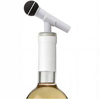 Стоппер для бутылки Rocket Микрофон белого цвета, фото