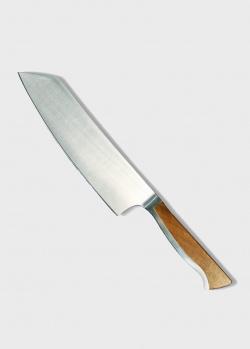 Японский поварской нож Gude Caminada Santoku 18см, фото
