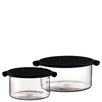 Набор контейнеров Bodum Hot Pot 2шт объемом 1л и 2,5л и с крышками черного цвета, фото