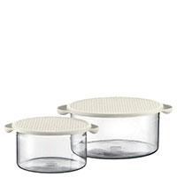 Набор контейнеров Bodum Hot Pot 2шт объемом 1л и 2,5л и с крышками белого цвета, фото