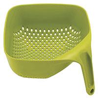 Дуршлаг Joseph Joseph Square Colander зеленый с ручкой, фото