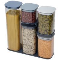 Набор емкостей Joseph Joseph Food Storage для хранения с подставкой из 6 штук, фото