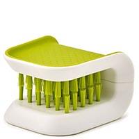 Зеленая щетка Joseph Joseph Wash n Drain BladeBrush для столовых приборов, фото