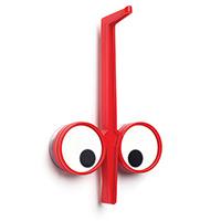 Держатель для кухонных принадлежностей Peleg Design Look Hook красного цвета, фото
