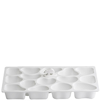 Форма для льда Qualy Polar Ice Tray белого цвета, фото