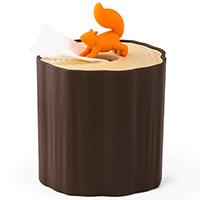 Подставка для салфеток Qualy Squirrel Tissue Log, фото