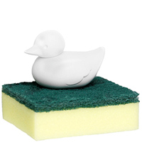 Держатель для губки Qualy Duck Sponge белого цвета, фото