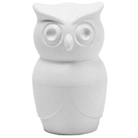 Белая мельница Qualy Tasty Owl для соли или перца , фото