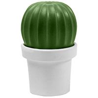 Мельница для соли или перца Qualy Tasty Cactus белая с зеленым, фото